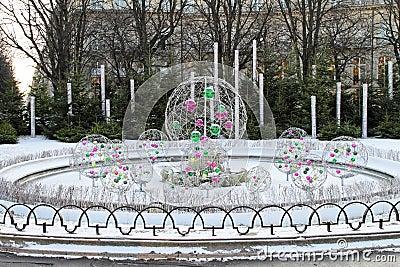 Pendants in fountain