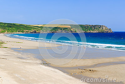 Pendower Beach Cornwall England Editorial Photography