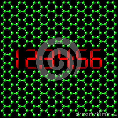 Pendule à lecture digitale atomique