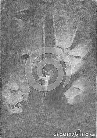 Pendulum in the dark