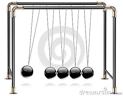 Pendulum on white