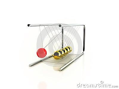 Pendulum on white background