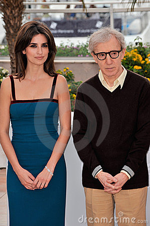 Penelope Cruz, Woody Allen Editorial Stock Photo
