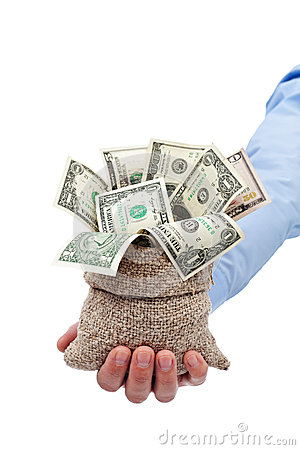 Pengar som är fallen föra dig som en gåva eller ett lån