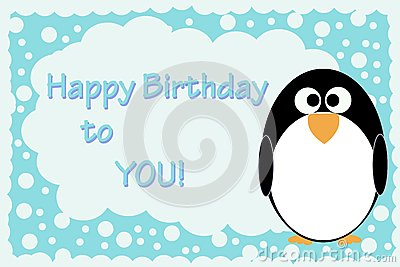 penguin birthday card bluelela dreamstime com id 181431