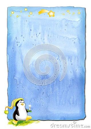 Penguin Christmas parchment
