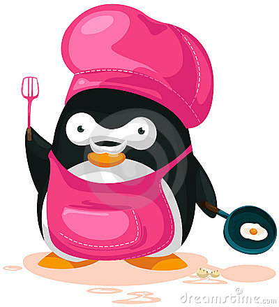 Penguin cooking