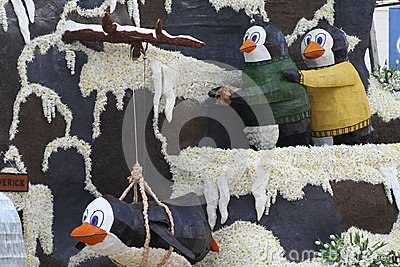 Penguin Float Editorial Stock Image