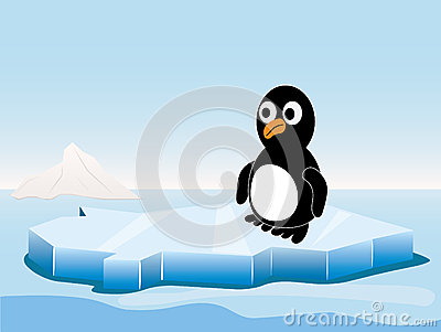 Penguin on the iceberg