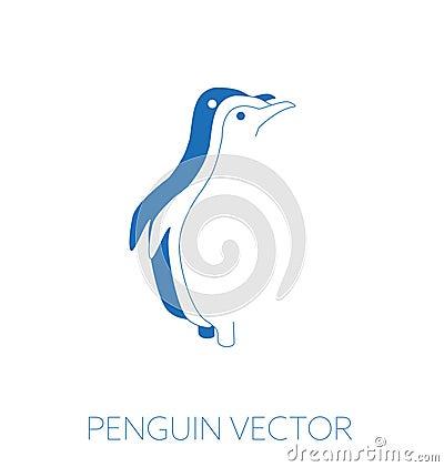 Penguin minimal illustration Cartoon Illustration