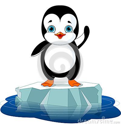 Free Penguin On Ice Stock Photos - 35167193