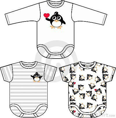 Penguin pattern baby clothing