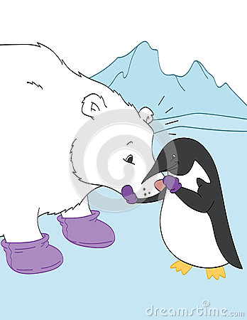 Penguin and Polar Bear