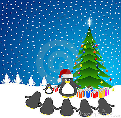 Penguin Santa-Claus