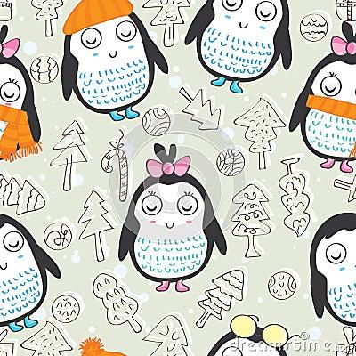 Penguin Seamless Pattern_eps