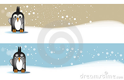 Penguine themed Banners