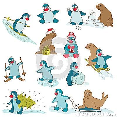 Penguins - Christmas Set