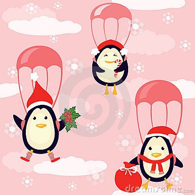Penguins fly in the sky