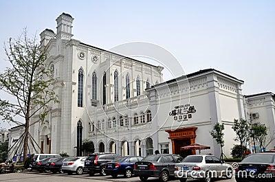 Pengzhou, China: Bai Lu Church Replica Editorial Photo