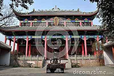 Pengzhou, China: Buddhist Temple