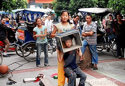 Pengzhou, China: Children Performing Magic Tricks Editorial Image