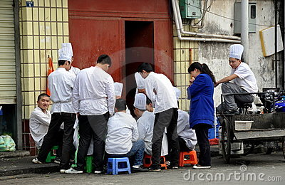 Pengzhou, China: Chinese Chefs Editorial Photo