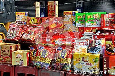 Pengzhou, China: Chinese New Year Foods Editorial Photo
