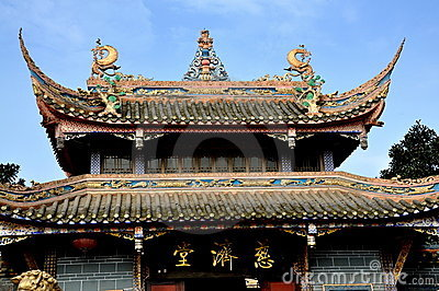 Pengzhou, China:  Ci Ji Buddhist Temple