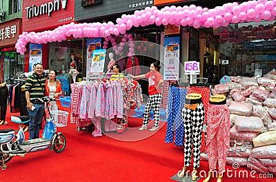 Pengzhou, China: Clothing Store Grand Opening Editorial Image