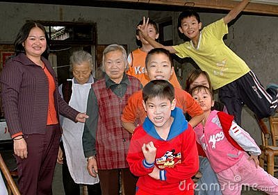 Pengzhou, China: Happy Family Members Editorial Photo