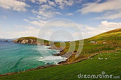 Penhasco na península do Dingle, Ireland