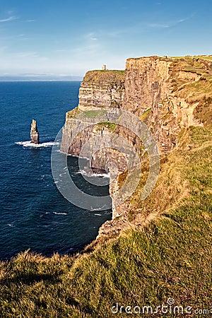 Penhascos de Moher em Co. Clare, Ireland.