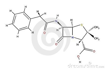 Penicillin structural formula