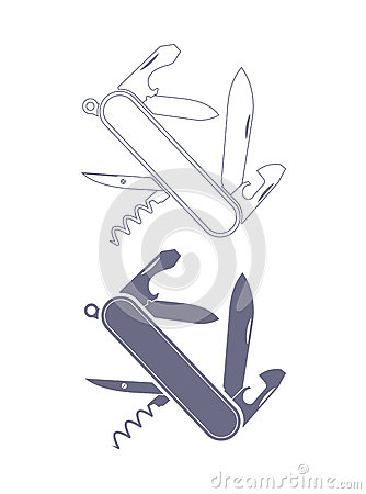 Free Penknife Silhouette Royalty Free Stock Image - 63327416