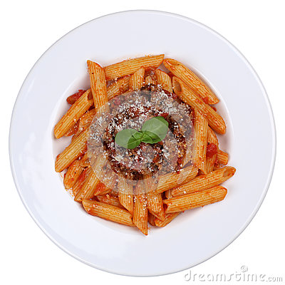 Free Penne Bolognese Or Bolognaise Sauce Noodles Pasta Meal Isolated Stock Photography - 51713762