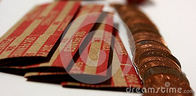 Pennies with Coin Rolls