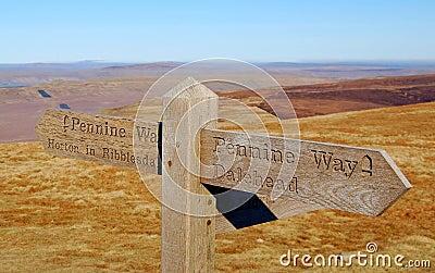Pennine Way waymark