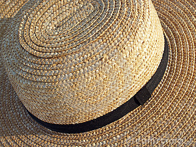 Pennsylvania Amish Straw Hat Detail