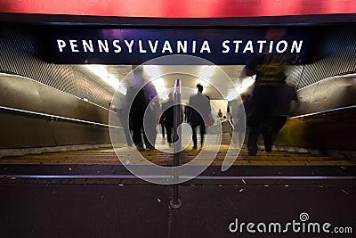 Pennsylvania Station NYC Editorial Image
