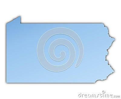 Pennsylvania(USA) map