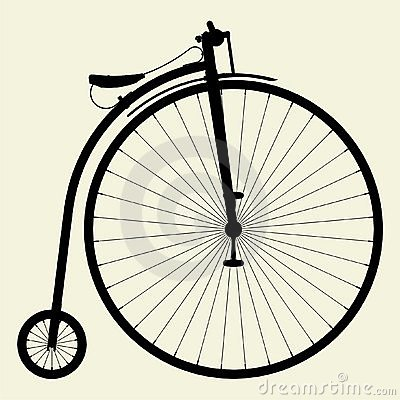 Penny-Farthing Bicycle Vector 01