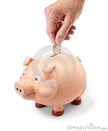 Penny Piggy Bank Hand