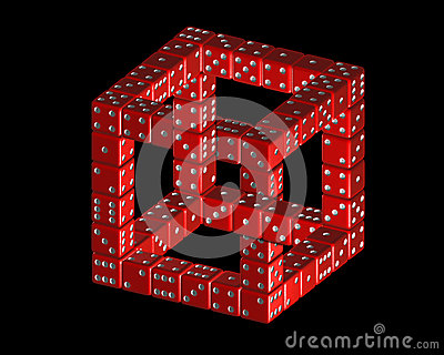 Penrose Triangle Cubes Penrose Cube From Dice...