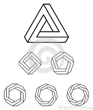 Number Names Worksheets pentagon hexagon heptagon octagon : Penrose Triangle And Polygons Outline Stock Vector - Image: 75016689