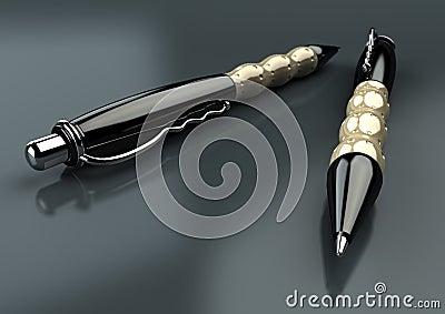 Pens closeup