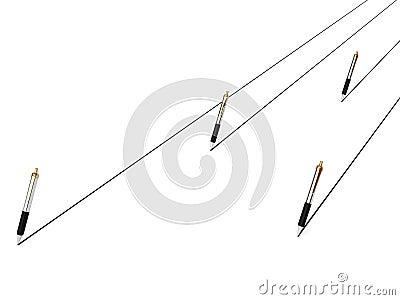Pens writing