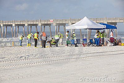 PENSACOLA BEACH - JULY 7 Editorial Stock Image