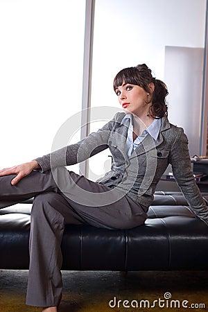 Pensamento da mulher de negócio