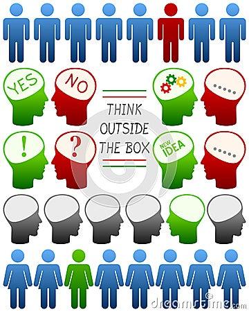 Pensez que différent pensez le positif