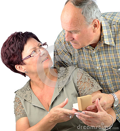 Pensioner couples happy anniversary